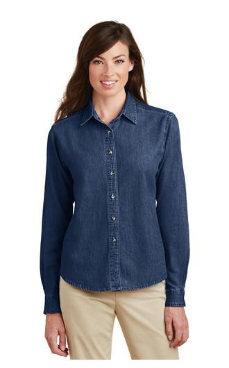 Port & Company Women's Long Sleeve Value Denim Shirts