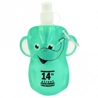 12oz. Paws N Claws Flat Bottles