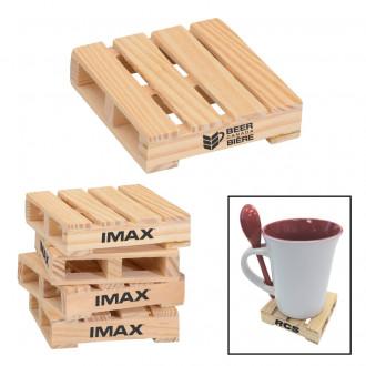 Mini Pallet Wood Coasters