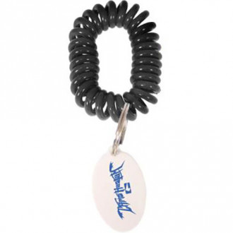 Wrist Coil w/ Tag Key Chains