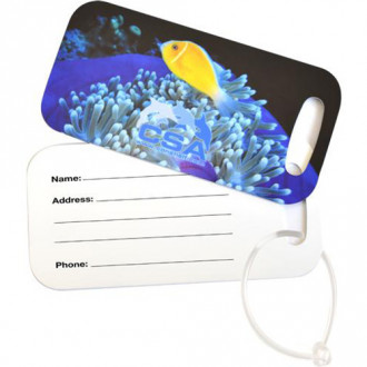 Rectangle Metal Luggage Tags - Full Color