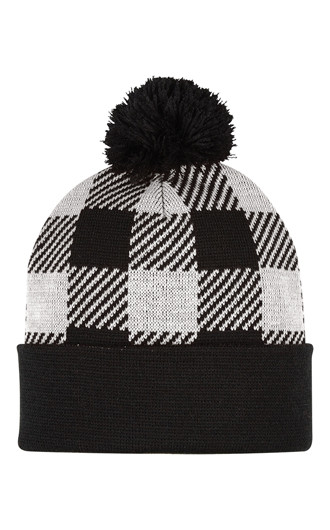 Northwoods Pom Beanies With Cuff