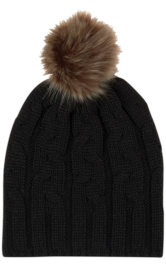 Cameron Cable Knit Pom Beanies