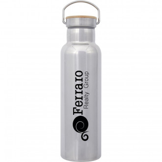 21 Oz. Shiny Liberty Stainless Steel Bottles With Bamboo Lid