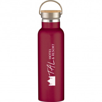 Tipton Stainless Steel Bottles With Bamboo Lid 21 oz.