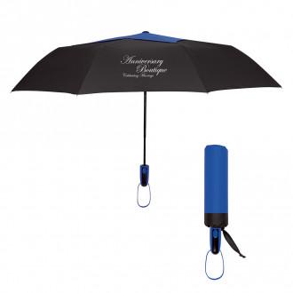 44-Inch Arc Top Vented Telescopic Folding Umbrella