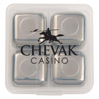 Stainless Steel Ice Cubes In Cases