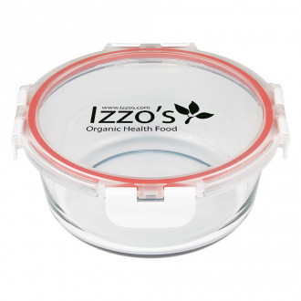 Fresh Prep Round Glasses Food Containers
