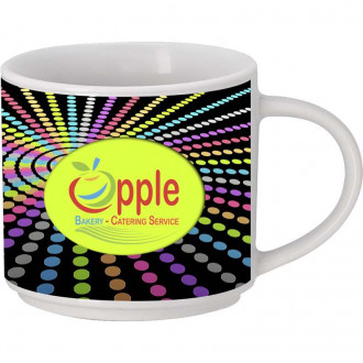 15 Oz. Full Color Mugs With Straight Lip
