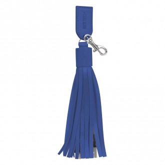2-In-1 Charging Cables On Tassel Key Rings