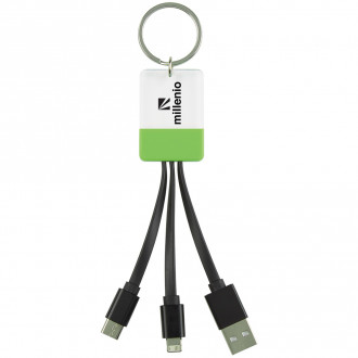 3-In-1 Clear View Lights Up Cable Key Rings