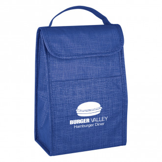 Crosshatch Non-Woven Lunch Bags