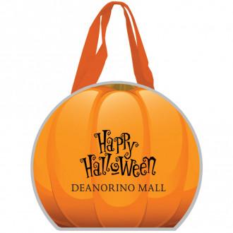 Reflective Halloween Pumpkin Non-Woven Totes