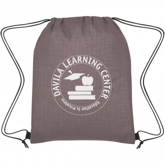 Crosshatch Non-Woven Drawstring Bags