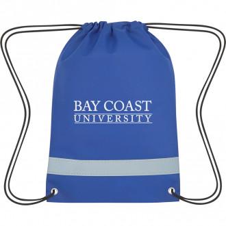 Lil' Bit Reflective Non-Woven Drawstring Bags
