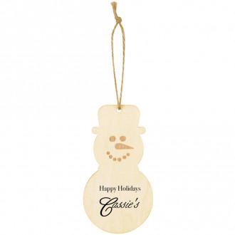 Wood Ornament - Snowman