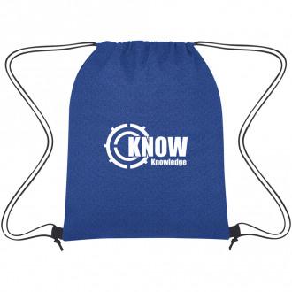 Heathered Non-Woven Drawstring Backpacks