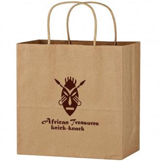 Kraft Paper Brown Bags With Brown Print