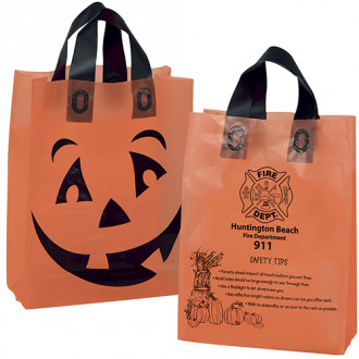 Orange Frosted Pumpkin Shopper - 10W x 5 x 13H