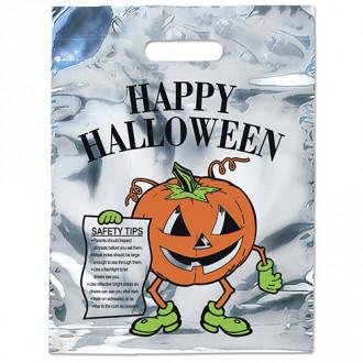 Silver Reflective Pumpkin Bags - 11W x 15H