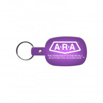 Round Rectangle Flexible Key-Tags