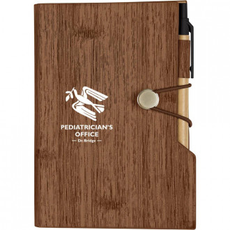 Woodgrain Look Notebooks with Sticky Notes And Flags