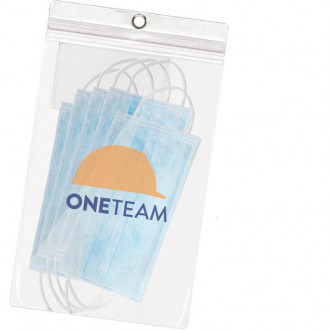 Clear 5 Packs Disposable Surgical Face Masks