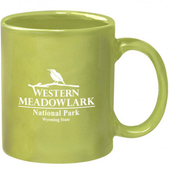 11 oz. Colored Stoneware Mugs with C-Handle - Colors