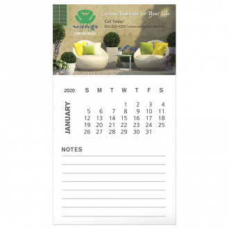 BIC Business Card Magnets with 12 Sheet Calendar