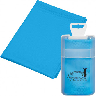 Cooling Towels in Plastic Case - Silkscreen