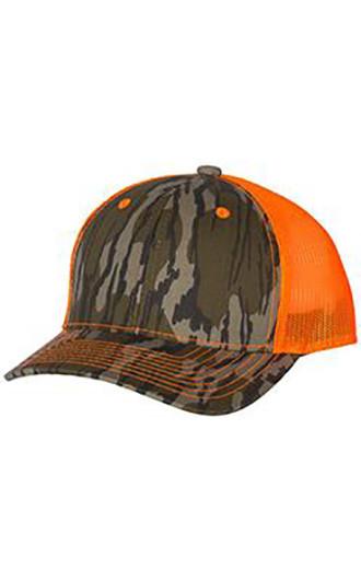 Outdoor Cap - Neon Mesh-Back Camo Caps
