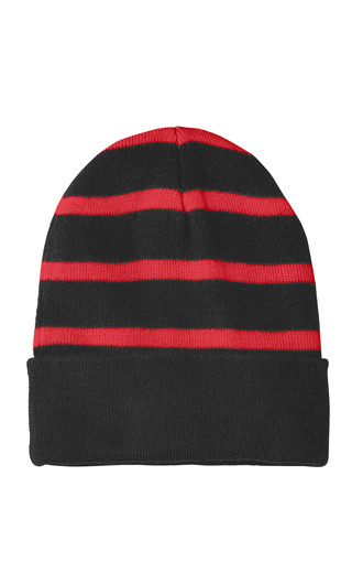 Sport-Tek Striped Beanies with Solid Band