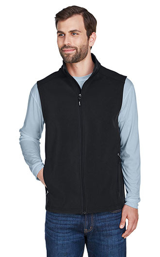 Core 365 Men's Cruise Two-Layer Fleece Bonded Soft Shell Vests