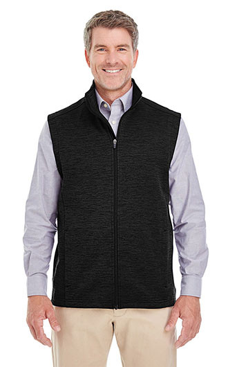 Devon & Jones Men's Newbury Melange Fleece Vests