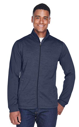 Devon & Jones Men's Newbury Melange Fleece Full Zip