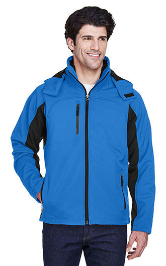 UltraClub Adult Colorblock 3-in-1 Systems Soft Shell Jackets