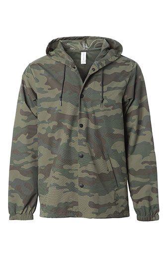 Independent Trading Co. - Water Resist Hooded Windbreaker (Camo)