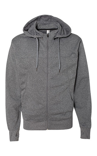 Independent Trading Co. - Poly-Tech Full Zip Hooded Sweatshirt&a
