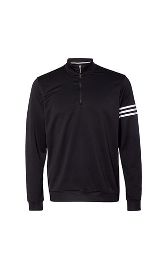 Adidas - 3-Stripes French Terry Quarter-Zip Pullover