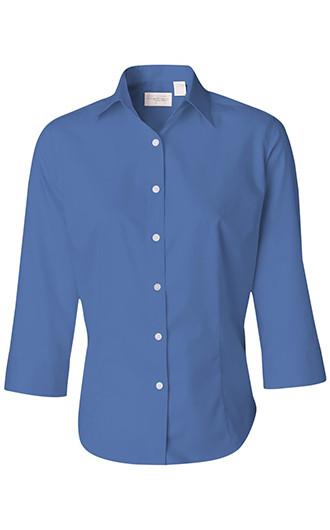Van Heusen - Women's Three-Quarter Sleeve Baby Twill Shirt