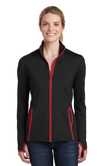 Sport-Tek Women's Sport-Wick Stretch Contrast Full Zip