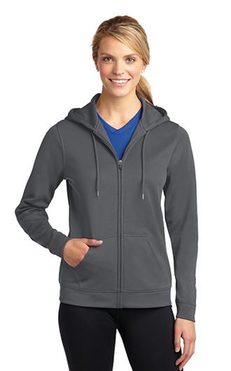 Sport-Tek Women's Sport-Wick Fleece Full Zip Hooded Jac