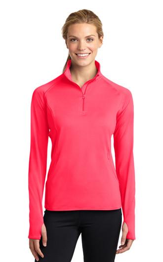 Sport-Tek Women's Sport-Wick Stretch 1/2-Zip Pullover