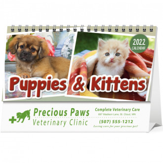 Puppies and Kittens Desk
