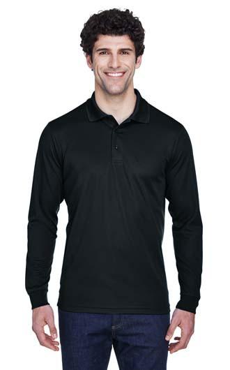 Core 365 Men's Pinnacle Performance Long-Sleeve Pique Polo