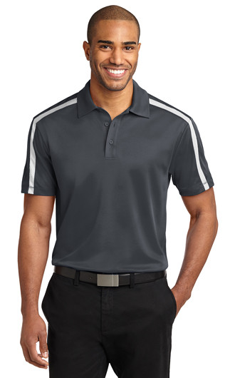 Port Authority Silk Touch Performance Colorblock Stripe Pol