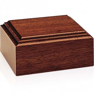 Mahogany-Tone Wood Base - Unlighted