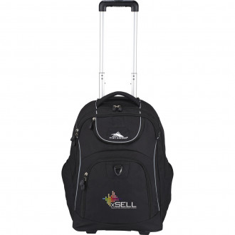 High Sierra Powerglide Wheeled Computer Backpacks Embroidered