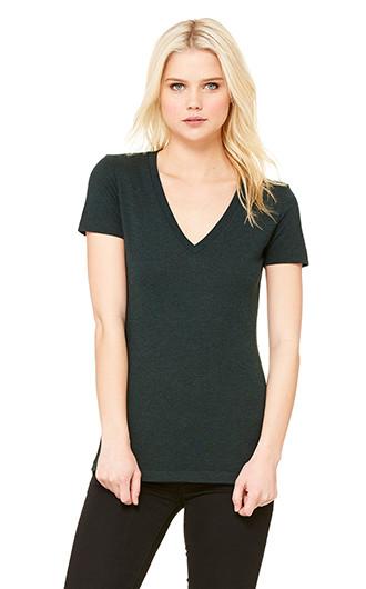 Bella  Canvas Ladies' Triblend Short-Sleeve Deep V-Neck T-shirts