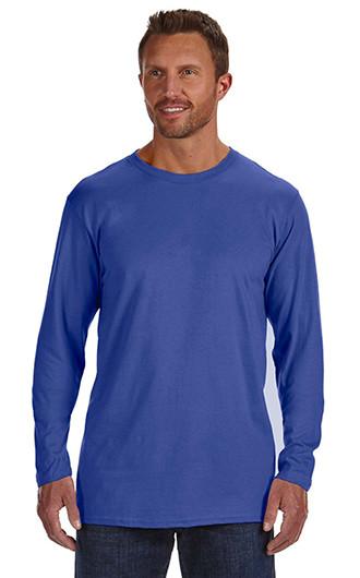 Hanes Adult 4.5 oz., 100% Ringspun Cotton nano-T LS T-shirts